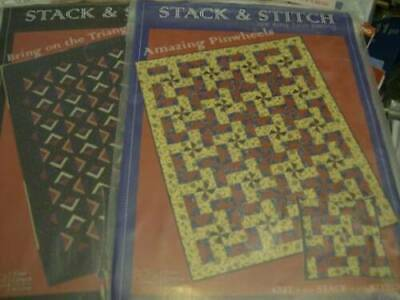 Stack & Stitch Quilt Sewing PATTERN Your Choice- Bring On The Triangles OR A