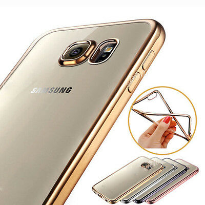 US ShockProof Silicone Rubber Clear Case Cover For Samsung Galaxy S5/S6/S7 Edge