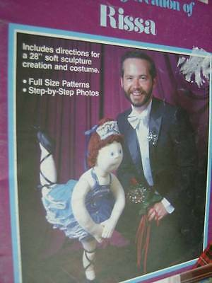 Xavier Roberts -Fantasy Creation Of Rissa Ballerina 28 Inch Doll Sewing Pattern
