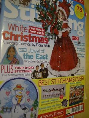 World of Cross Stitching UK Magazine #90 Indian Lady, Snow Scenes, Molly Brett M