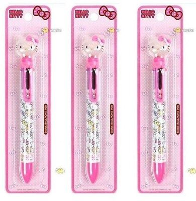 Sanrio Pink Hello Kitty Ballpoint pen 6 Color 1 Pcs School Stationery Smooth
