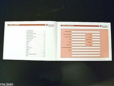 Vauxhall Service History Record Book Zafira -- A  & B Models  Brand New Genuine*