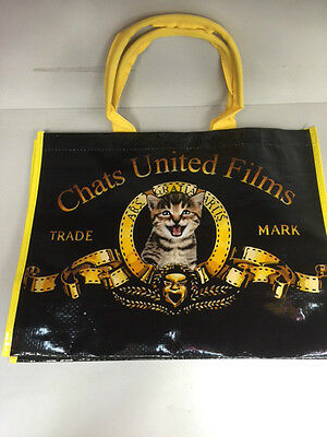 Sac Shopping Chat United Films Cabas Course Commissionreutilisable Pliable