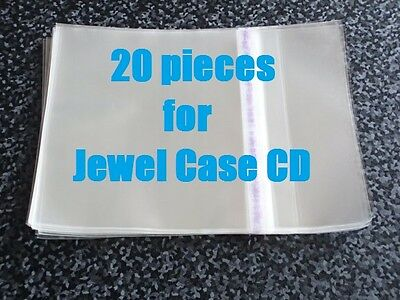 20 pieces Resealable Outer Replacement Plastic Sleeves for CD Jewel Cases