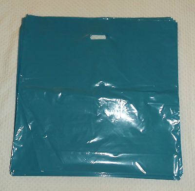 "Glossy Jumbo Teal Shopping Merchandise Bags 20""x20""x5"" Lot 25"