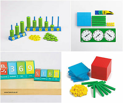 Place Value Abacus Base Tens Block Flip Stand, Spinner Maths Learning Resources