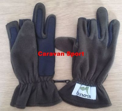 Guanti In Pile E Gomma St008 Size Xl Olympus Pesca Spinning Inverno Gloves Mare