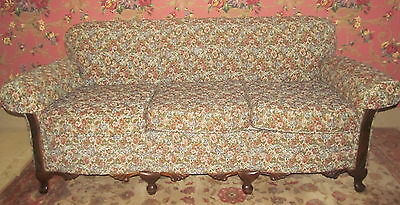 Vintage 1940's Floral Upholstered Sofa and Chair Set Room Ready Non Smoking
