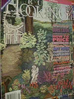 Rug Hooking Magazine M/A/M 2011 Magnolias Bell Pull/Eyelet Bird Free Patterns/In