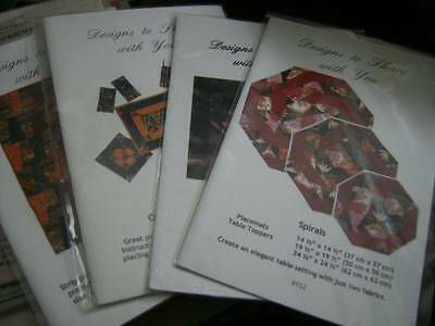 Designs To Share With You Quilt Sewing PATTERN Your Choice- Mountain View, Spira