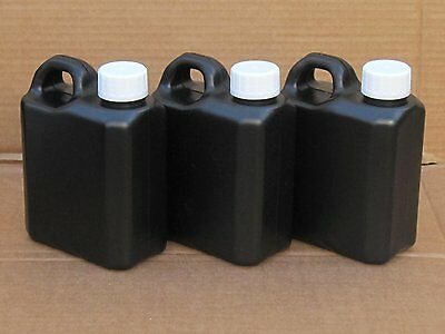 3X Easy Store / Easy Pour Darkroom Chemical Storage Bottles - 1L (All Black)