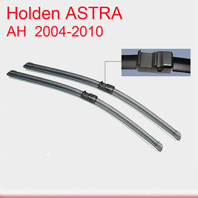 Pair Frameless Windscreen Wiper Blades For HOLDEN ASTRA AH 09/2004 - 12/2012