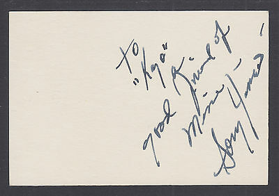 Sonny James, Country Music Singer & Songwriter, signed 3x5 card inscribed