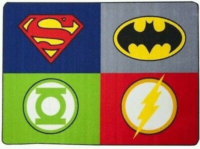 Justice League Accent Rug - DC Comics - 39 in X 56 FREE SHIPPING -RARE - NEW !!!