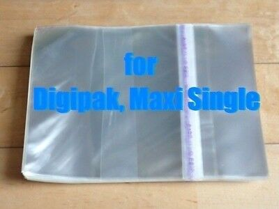 Resealable Outer Plastic Sleeves for CD DIGIPAK, MAXI-SINGLE 100
