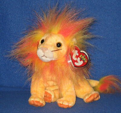 a419a943398 TY BUSHY THE LION BEANIE BABY - MINT with MINT TAGS -  3.95