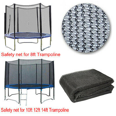 8Ft 10Ft 12Ft 14Ft Replacement Trampoline Safety Net Only Enclosure Surround