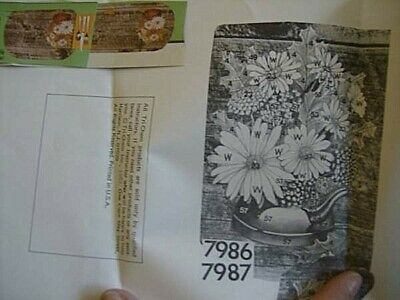 Tri-Chem Barnwood Floral Placemats & Runner Liquid Embroidery Pictures #7986/7 -