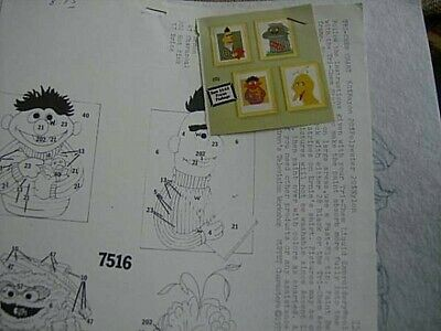 Tri-Chem Sesame Street Characters Liquid Embroidery Pictures #7516 - 4 Of 6x8 In