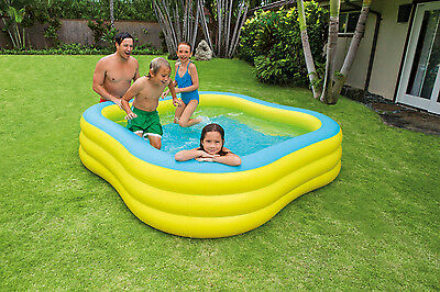 Intex Large Beach Wave Shape Family Swim Center Paddling Pool Outside Water Fun