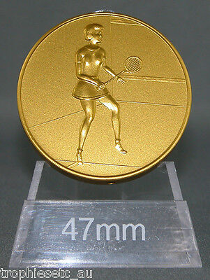 NEW Female Squash Gold Medal + Presentation Case 50% OFF RRP