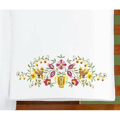 Herrschners Pillowcases Stamped Linens To Embroider Your Choice- Fall Splendor,