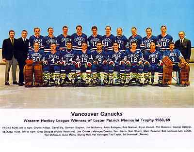1968-69 Vancouver Canucks Team Photo 8X10
