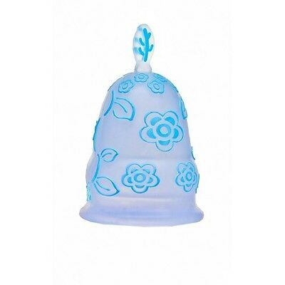 Luv Ur Body Silicone Menstrual Cup - Blue Flowers - Small