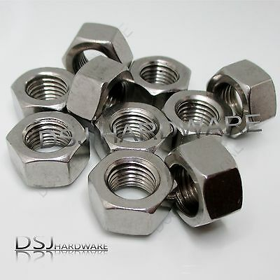 UNF - A2 Stainless Steel Hexagon Full Nuts. Various sizes available.