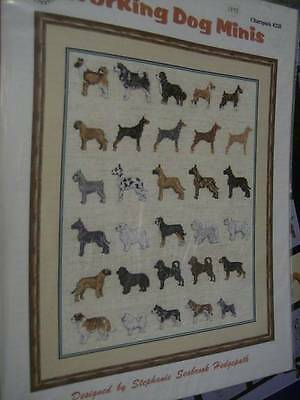 Working DOG Minis Cross Stitch Chartpack-20 Breeds/Charts -Hedgepath