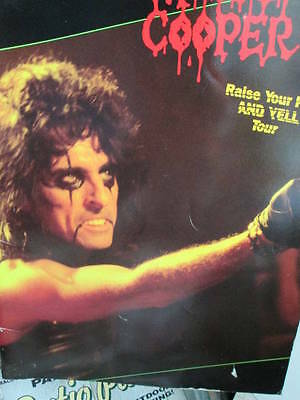 Alice Cooper Raise Your Fist And Yell Tour Program- 1987