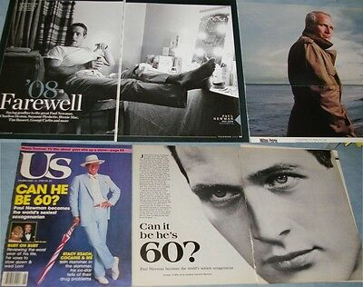 PAUL NEWMAN 179x Clippings 1967 -to- recent + 2x Color Slides
