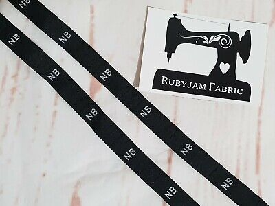 30 pack of NB size clothing labels BLACK sew in woven tags FREE POSTAGE in AUST