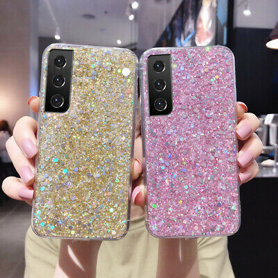 For Samsung Galaxy S8 S9 S7 S6 Edge Bling Glitter Soft Gel Phone Case Back Cover