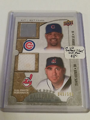 2009 Upper Deck Ballpark Collection #123 Travis Hafner & Derrek Lee 49/500