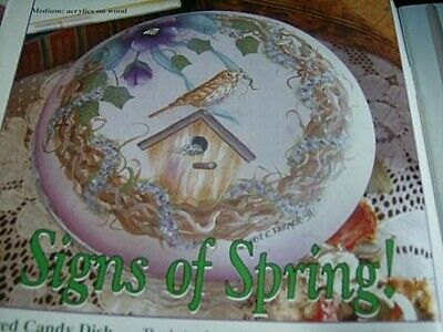 Paint Works Magazine May 1997 -Spring Florals/Bird & Birdhouse/Angel/Clemati
