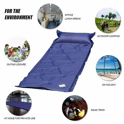 Self Inflating Outdoor Camping Roll Mat Inflatable Bed Sleeping Mattress Pad UK