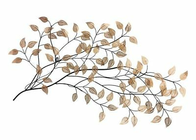 Gold Metal Leaf Wall Art Home Decor, Wall Sculpture, Gift, Wrought Iron