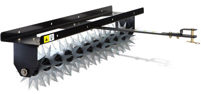 Lawn Spike Aerator 40 Inch Tow Behind Tractor Yard Garden Soil Fertilize Tools