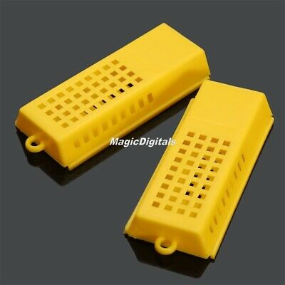 10Pcs Plastic Beekeeper Butler Queen Cage Bee Keeping Rearing Moving Catcher Too