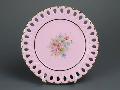 Carlsbad Czechia  Stunning  Pink Porcelain  Plate