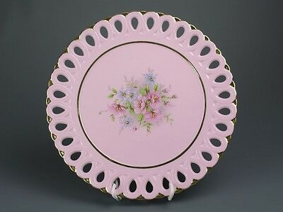 Carlsbad Czechia  Stunning  Pink Porcelain  Plate -02