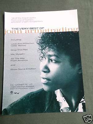 Joan Armatrading - Magazine Clipping / Cutting- 1 Page Advert
