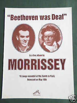 Morrissey - Magazine Clipping / Cutting- 1 Page Advertisement