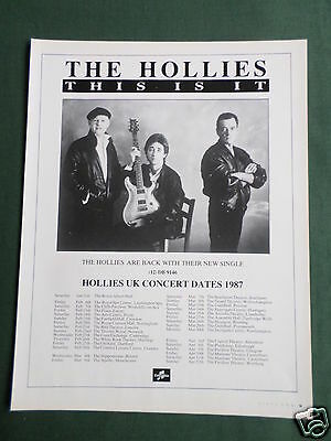 The Hollies - Magazine Clipping / Cutting- 1 Page Advert
