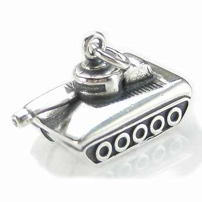 Tank sterling silver charm .925 x 1 Tanks and Military vehicles charms DKC91131