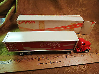 "Vintage ""Rare"" Coca-Cola Winross Diecast Semi-Truck Made In USA Stainless Doors"