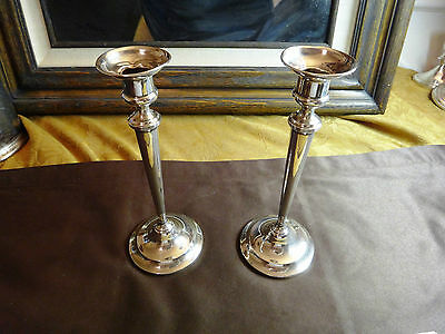 "Vintage 8 1/2"" Tall Sterling Silver 1390 Candle Holders 300+ gms *Free S&H USA*"