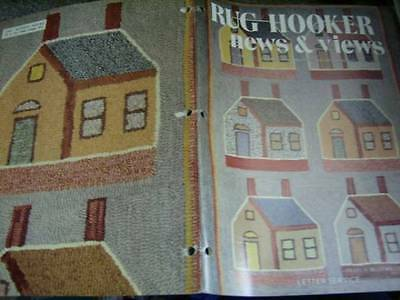 Rug Hooker News & Views Jan/Feb 1983 Magazine Cat, Schoolhouse Free Patterns/Ins