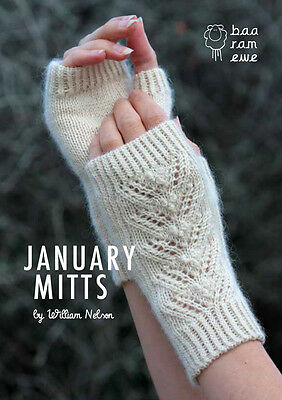 Mitts Knitting Kit. January Mitts Pattern and one hank of Titus wool.